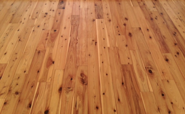 Picture   Installed Australian Cypress Unfinished Flooring